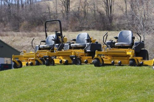 when to level a zero turn mower deck