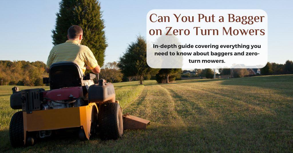 can you put a bagger on zero turn mowers